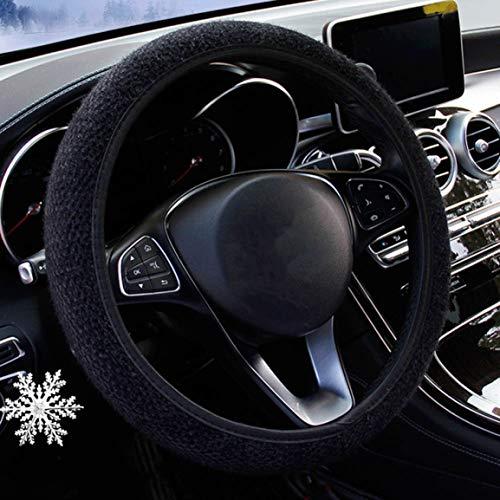 Haggai de moeite waard Nieuwe Universele Houd Warm Korte Pluche Trui Stijlen Elastische Band Stuurwiel Cover Comfortabele Auto Styling Accessoires Bk