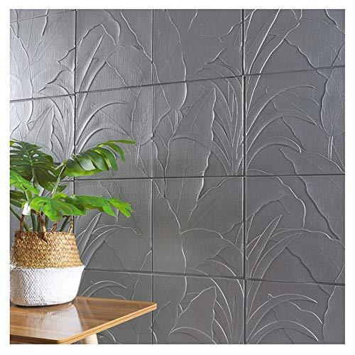 ZHANWEI 3D Wandpaneele Tapete Selbstklebend Verdicken Schaum Wandaufkleber Innen- Wohnzimmer Hintergrundwand Dekorativ Wasserdicht Wandaufkleber, 5 Farben (Color : Gray, Size : 5 PCS)