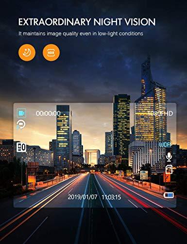 APEMAN 1440P&1080P Dashcam vorne und hinten, Maximal 1520P, 128 GB Unterstützung, 170° Dashcam Autokamera mit 3 Zoll IPS-Bildschirm, Nachtsicht mit IR-Sensor, Bewegungserkennung, Einpark-Monitor - 5