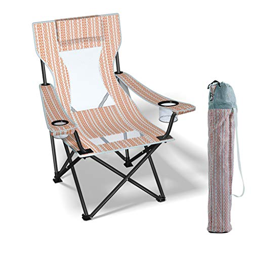 Hasayo Silla Plegable al Aire Libre, Respaldo, Silla de Playa portátil, Silla tapizada, Ligera y cómoda, Pesca