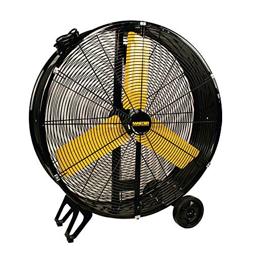 MASTER 30 Inch Industrial High Velocity Barrel Fan - Direct Drive, All-Metal Construction with Steel-Coated Safety Grill, 2 Speed Settings (MAC-30D)