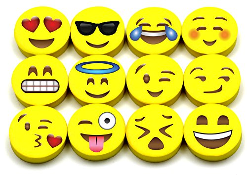 Emoji Erasers, 120-Pack Fun Cute Pencil Erasers for Kids, Great for Rewards, Party Favors, Birthdays, School Prizes, Classroom Incentives or Gifts for Teachers