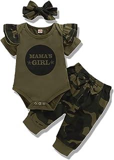 Baby Girl Clothes Newborn Outfits 3Pcs Infant Floral Short Sleeve Romper Shorts Set + Headband