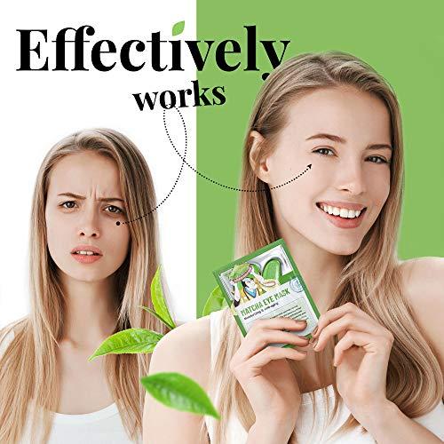 51eG7fs+F3L - Under Eye Mask – Under Eye Bags Treatment, Moisturizes With Green Tea Anti-Aging Effect, Eye Mask for Puffy Eyes, Matcha Extract Under Eye Gel Pads For Dark Circles Reducing