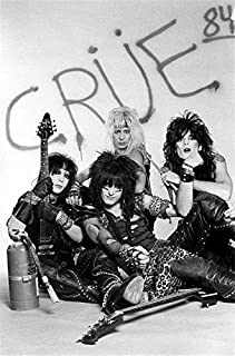 Motley Crue, an American Rock Band, Nikki Sixx, Tommy Lee, Vince Neil, Mick Mars 12 x 18 inch Poster