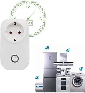 Surenhap Inteligente WiFi Enchufe Plug Funciona con Alexa Google Home, Control de Aplicaciones de iOS y Android con función de temporización