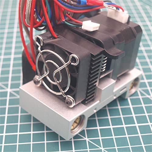Farleshop 1set For CTC/Replicator Clone 3D Printer Aluminum Extruder Hotend Carriage Kit Print Head Kit 0.4mm With NEMA17 Stepper Motor
