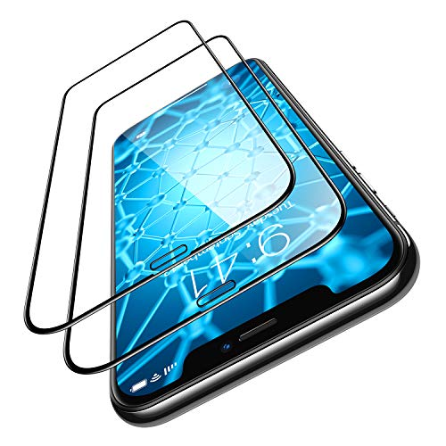 TORRAS iPhone 11/ iPhone XR 用ガラスフィルム【永久抗菌 対策】SGS認証取得 2020年新型 [2枚セット] [ガイド枠・気泡除去ヘラ付き]全面保護 耐衝撃 日本製9H 強化ガラス保護フィルム 高透過率(アイフォン11/XR用)