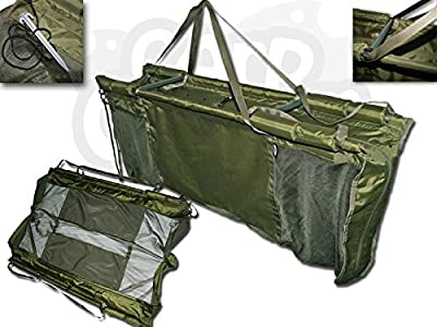 Carp Fishing Deluxe Floating Floatation Retainer & Weigh Sling With Carry Case