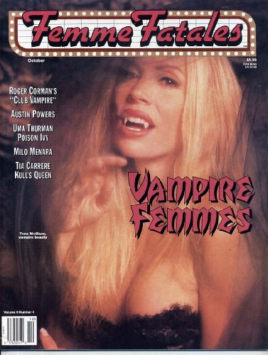 Femme Fatales Magazine VAMPIRE FEMMES Tane McClure UMA THURMAN Tia Carrere VAMPIRELLA Cheesecake Photos PIN-UPS October 1997 C