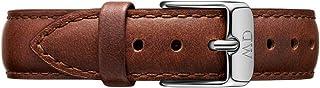Daniel Wellington Petite St Mawes, Montre Marron/Argent Bracelet, 14 mm, Cuir, pour Femmes