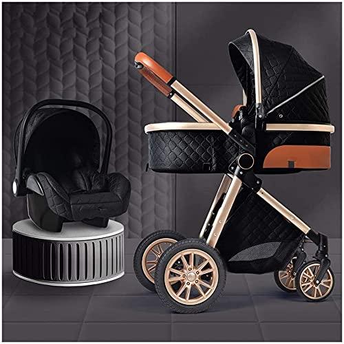 Cochecito de bebé Rotación de 360 grados Carrera de bebé Cochecito PROM 2021 Sistema de viaje de cochecito de bebé de lujo con mochila de asiento de automóvil Mosquitera Net Mademuff Fool Funda de l