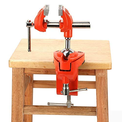 360° Rotating Bench Clamps Vise Adjustable 70mm Jaw Width Milling Swivel Vise for Workbench