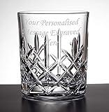 Vaso de whisky de cristal grabado personalizado de 325 ml