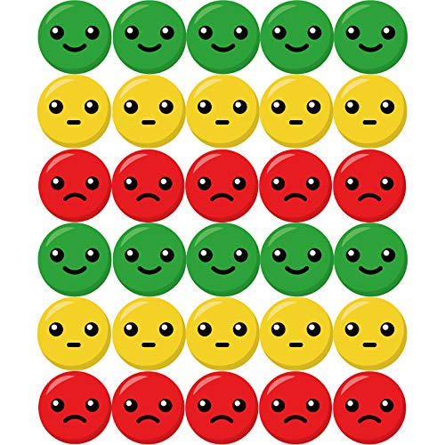 2100 Pieces Happy Sad Smiley Face Stickers Circle Face Labels Incentive Stickers Round Behavior Sticker for Parents Teachers Home Office School
