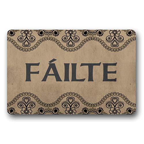 WYFKYMXX Gaelic Failte Welcome Celtic Knot Doormat Welcome Mat, Closing Gift, Farmhouse Decor 23.6' x 15.7'