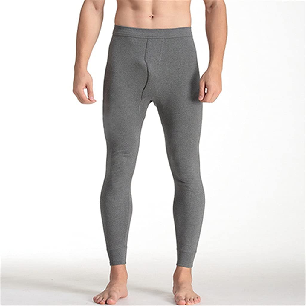 SLATIOM Men's Long Cotton Mens Thermal Pants Breathable Thermo Clothes Autumn Winter Warm Thermo Underwear Homewear Pajamas (Color : C, Size : XL code)