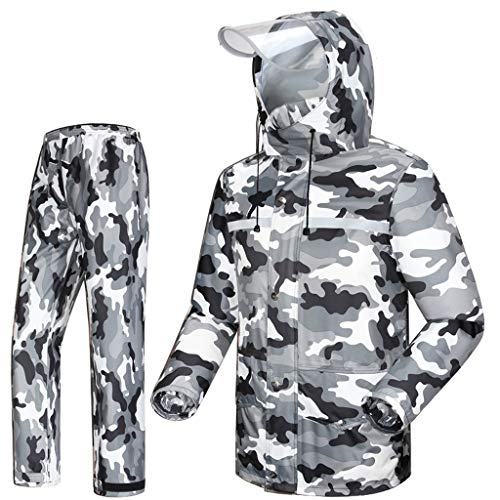 Yxsd Traje impermeable, hombres y mujeres adultos, moda, impermeable, impermeable, impermeable, impermeable,...
