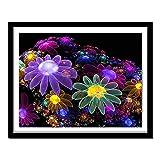 5D diy Número adulto diamante pintura sueño flor punto de cruz artesanía adecuada para decoración de la pared del hogar diamante redondo 40x50cm