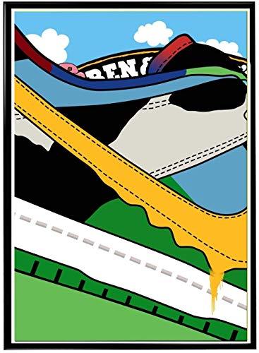 MKAN Chunky Dunky Sb Dunk Schließen Sneaker Poster, Hypebeast Poster Sneaker Collage Poster, Wandkunst Dekor 40X60Cm