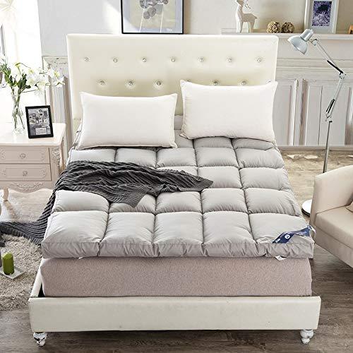 KMatratze Colchón Doble Grueso, colchón de Calidad del Hotel, colchón Plegable para Mantener el cálido de la Cama de la Cama de la Cama Dormitorio Doble colchón (Color : Gray, Size : 180 * 200cm)