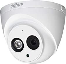 Dahua 4MP Dome Camera IPC-HDW4433C-A 2.8mm PoE IP Security Camera Outdoor & Indoor Network Surveillance IP Camera with Audio, Built-in Mic, 164ft/50M IR Night Vision, H.265 WDR, ONVIF, IP67 (Dome)
