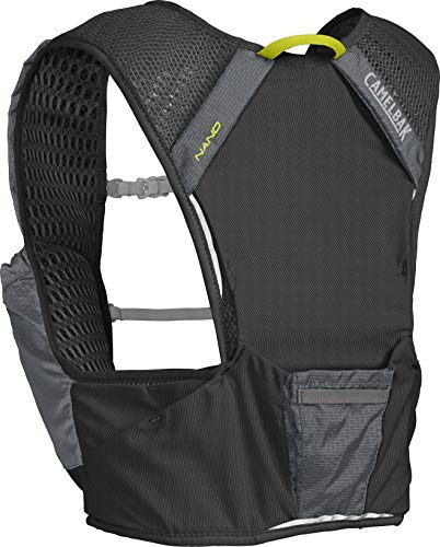 CamelBak Nano Vest Chaleco de hidratación, Unisex-Adultos, Grafito/Sulfur Spring, 34oz