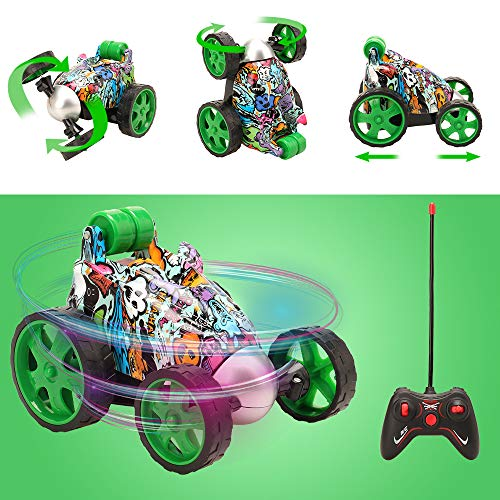 Miunana Auto RC Racing 4WD Coche Acrzaic Control Remoto rotación de 360 Grados Regalo para niños (No Incluye baterías)