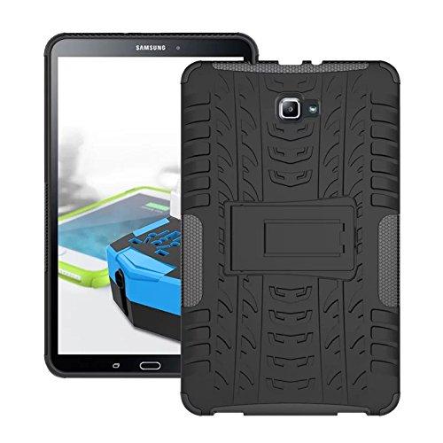 Skytar Custodia per Galaxy Tab A 10.1- Protezione in Silicone & PC Duro Stand Cover per Samsung Galaxy Tab A 2016 SM-T580 T585 10.1 Pollici Tablet Custodia,Nero