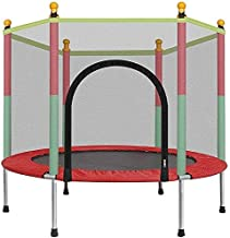 BabyGo 55 inch /4.5 Feet Kids Trampoline with Safety Enclosure Net & Spring Pad, Indoor & Outdoor Trampoline for Exercise and Fun