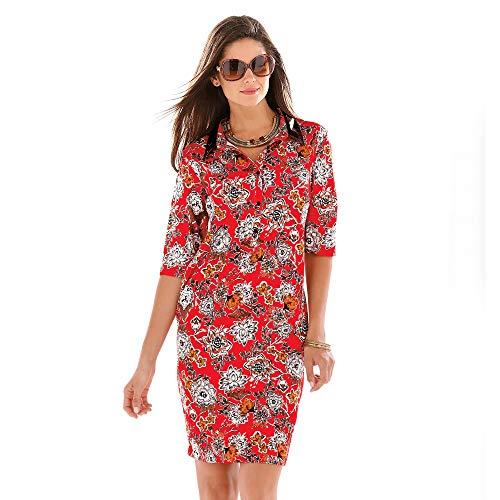 VENCA Vestido Detalles en símil Piel Mujer by Vencastyle - 145087,Estampado,S