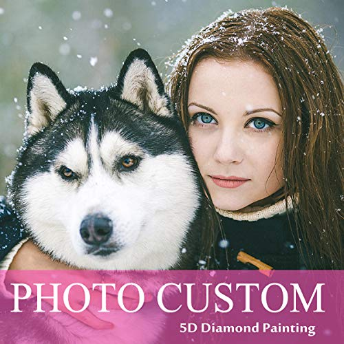 Custom Diamond Painting Kits Full Drill for Adults,Personalized Photo Customized Diamond Painting,Private Custom Your Own Picture (Round Drill, 15.8x19.7inch)