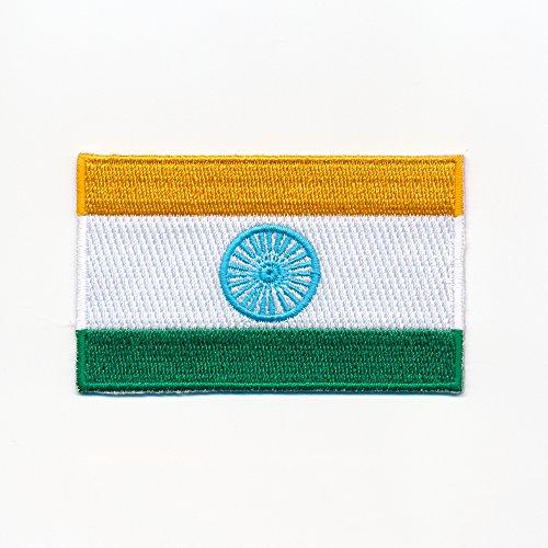 40 x 25 mm Indien Flagge Neu-Delhi Republic of India Aufnäher Aufbügler 0941 A