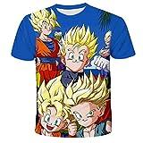 Hombres Cosplay Goku 3D Dragon Ball Printed Comic Fans Anime Cartoon Camisetas de Manga Corta Unisex 3D Printed Tops Tees Casual Camisetas de Manga Corta-B_4XL