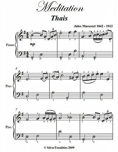 Meditation Thais Easiest Piano Sheet Music PDF
