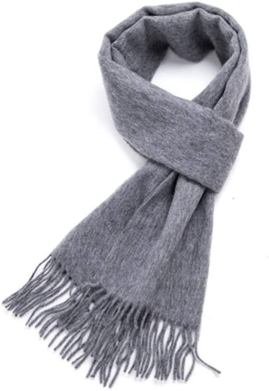 ZANZAN Cold Weather Scarves Men's Winter Scarf, Fashion Tassel Pure Wool Keeps Winter Soft Warm Pure Color is a Gift for Thanksgiving for Parents Decorative Scarf