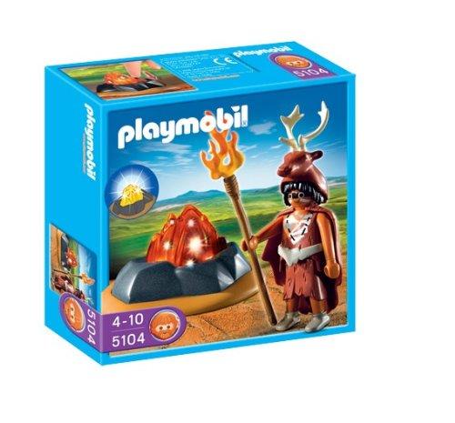 PLAYMOBIL - Guardián del Fuego con LED, Figura de Juguete (5104)