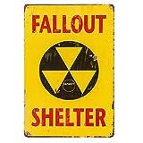 dingleiever-Christmas Gifts'Fallout Shelter Vintage Metal Tin Sign,Garage Decor Man Cave Sign