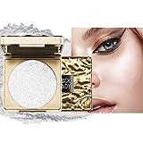 OKENTEN Highlighter Palette, Professional Shimmer Glitter Powder, Highlighter Makeup Contour Palette, Polvo iluminador facial con purpurina brillante resistente al agua de larga duración