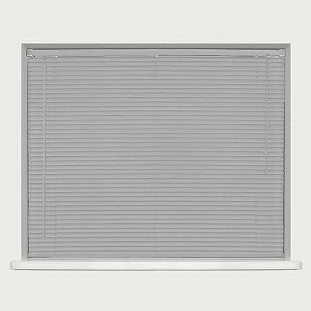 Venetian Blinds Faux Wood Window Blind Home Office Easy Fit 120//150cm Drop Blind