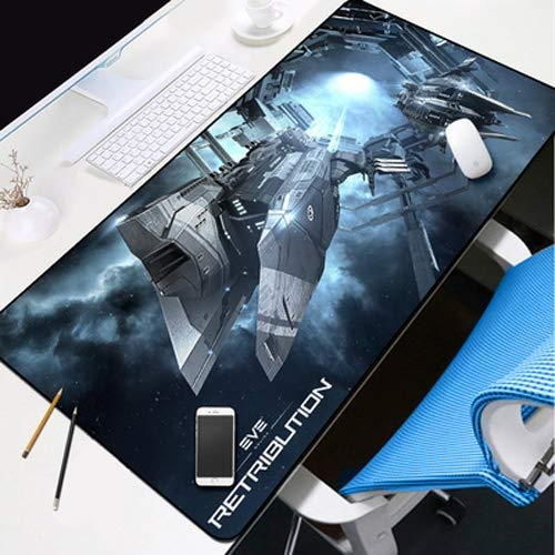 DMWSD Mauspad Desktop-Pad EVE Online Anime Game Character Star Gate Galaxy Jump Maxi-Anti-Rutsch-Profi Gaming Mouse Notebook Desktop-Notebook-Peripheriegeräte