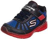 Skechers ILLUMI-Brights Tuff Track, Zapatillas Niños, Black, 28.5 EU