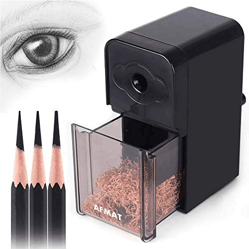 AFMAT Artist Pencil Sharpener, Long Point Pencil Sharpener,Charcoal Pencil Sharpener for Artists, Manual Pencil Sharpener for Art Pencils/Drawing/Sketching Pencils(φ6-8.2mm), Adjustable Points