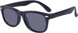 ALWAYSUV - Outray - Gafas de sol polarizadas para jóvenes, de goma, flexibles, para jóvenes, color Negro, talla Medium