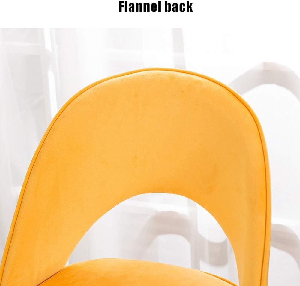 Chaise de salle, Chaise de cuisine Petit déjeuner éponge Coussin café chaise de loisirs Chaise avec dossier (Color : White leather pad) Gray Linen Pad 2