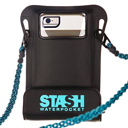 Stash Waterpocket Premium Waterproof Phone Pouch | FOR RECREATIONAL USE Rafting, Fishing, Kayaking, Boating, Snorkeling | For iPhone 6, 6 Plus, 7, 7 Plus, 8, 8 Plus, XS, XS Max, XR, Galaxy S9+, more