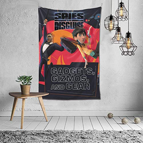 YUNYANG Tapiz de pared de espas disfrazados,Mantas decorativas de habitaciones,Colgadores de pared familiares,Tapices de decoracin de fiesta de dormitorio