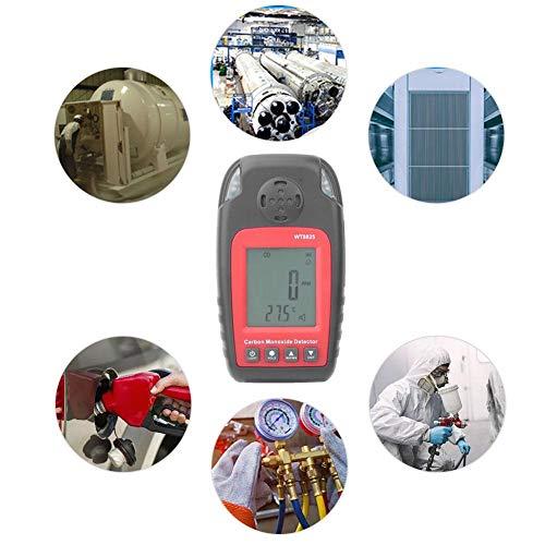 probador port/átil de Gas t/óxico con Gas LCD CO 0-1000ppm Boquite Detector de mon/óxido de Carbono