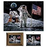 3D LiveLife Stampe d'Arte Lenticolari Parete - Sbarco sulla Luna di Deluxebase. Poster 3D Spazio senza cornice. Ottima decorazione da muro. Opera originale realizzata dal noto artista David Penfound