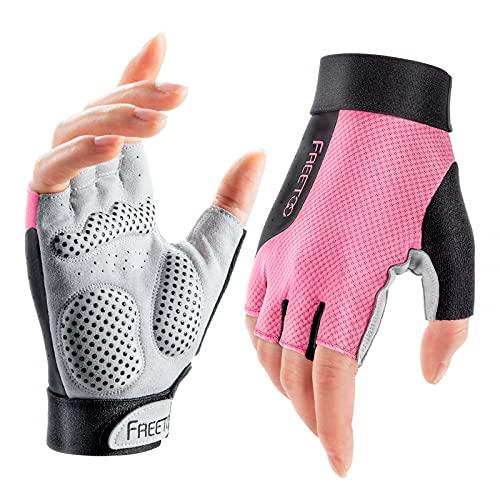 FREETOO [Supper Light] Gym Training Gloves for Women, [No Wrist Limit] &...